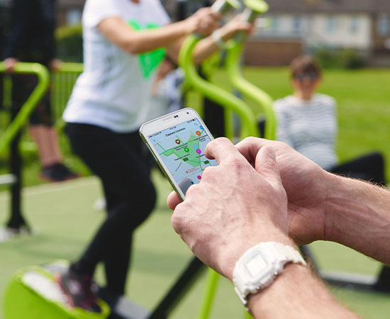 TGO Activate app to find outdoor gyms